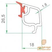 پروفیل زهوار شیشه دوجداره صاف 507-19