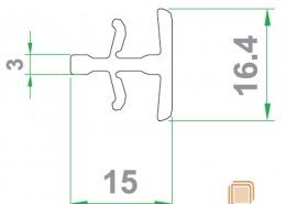 پروفیل اتصال کوچک قاب