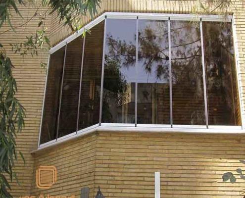 پنجره دوجداره شیشه دودی