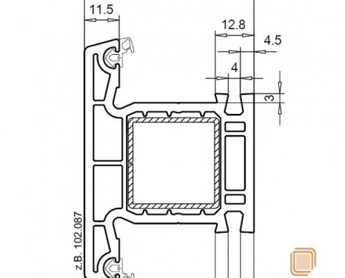 نقشه فرزکاری برای انتهای وادار اتصال به بازشو نیمه هم سطح