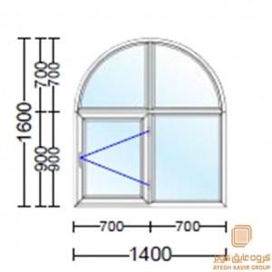 پنجره دو جداره قوس