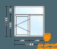 پنجره دوجداره با یراق تنظیمی از بالا کتیبه