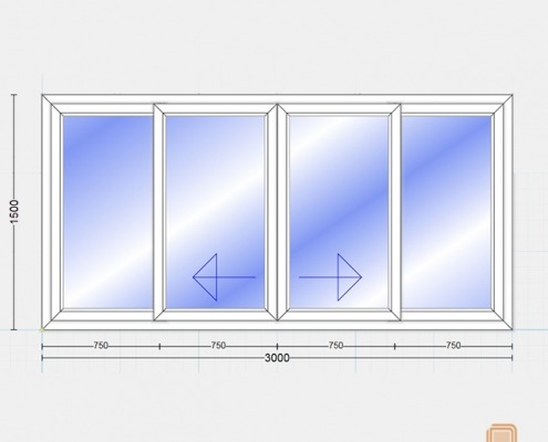 پنجره یو پی وی سی کشویی (Slide)
