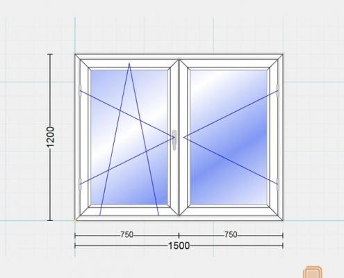 پنجره یو پی وی سی دوحالته (Tilt & Turn)