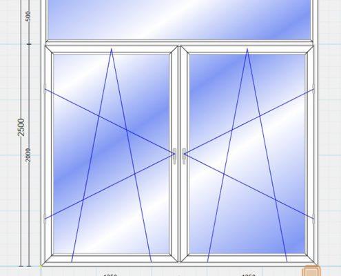 پنجره یو پی وی سی فرانسوی (French)
