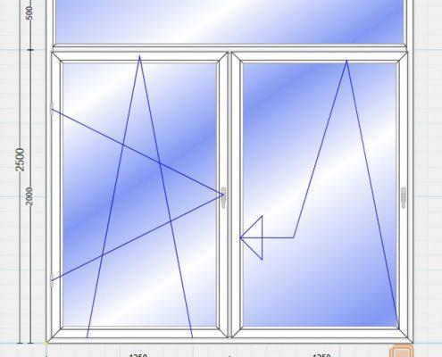پنجره یو پی وی سی فولکس واگنی (Tilt & Slide)