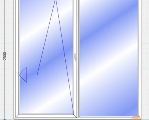 پنجره یو پی وی سی فولکس واگنی (Tilt& Slide)