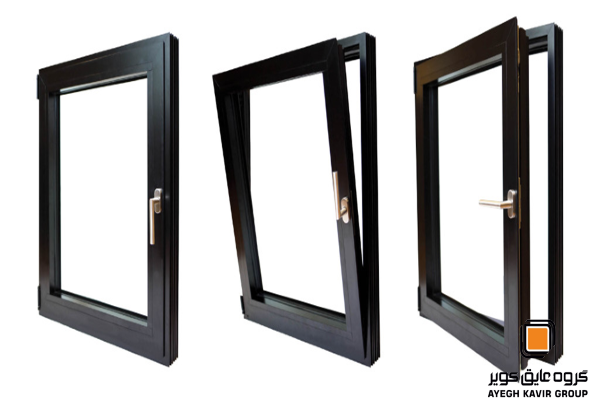 سبک و انواع پنجره بازشو چرخشی