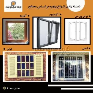 دستهبندی انواع پنجره